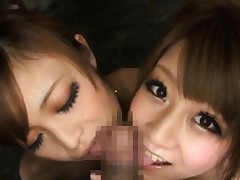 Japanese AV Model and cupcake lick and suck