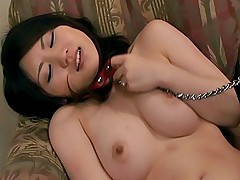 Aki Ninomiya hot Japanese tramp gets a hard pussy pounding with a dildo