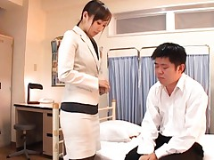 Reona Kanzaki Asian kisses man and wants to feel his dong inside