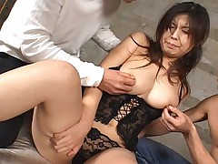Older Asian slut being penetrated very hard in basement
