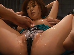 Rio Hamasaki Asian gets mad as her boobs and slit gets sex toys