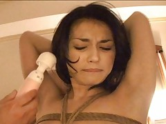Maria Ozawa can't move as she is forced to cum with sex toy