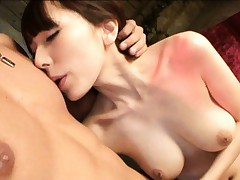 Yui Hatano Asian with perfect hooters gives blowjob to fellow