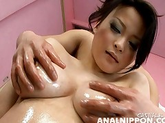 Yuu Haruka tits and ass are oiled up and ready for action
