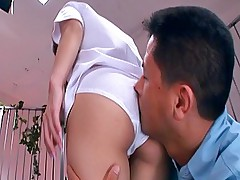 Chizuru Moriil Pretty Asian teen has a sexy tight ass ready for a pounding