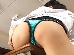 Sora Aoi rubs her cunt and makes herself horny and wet