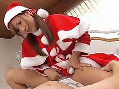 Mint Suzuki naughty santa's helper gets a hard pounding at the party