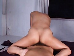 Japanese AV Model with round tits is hungry for dick in nooky