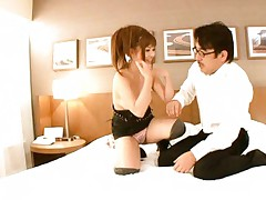 Kokomi Naruse Asian on high heels undresses herself and fellow