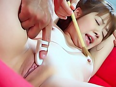 Naughty Japanese gal is tied up and she gets a hard fucking by her date