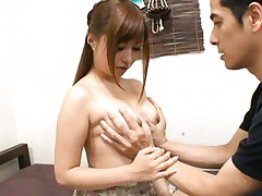 Kokomi Naruse Asian has her boobs appreciated for perfect shape