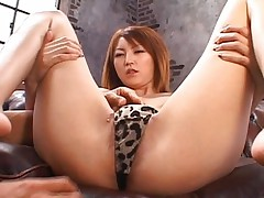 Kaede Matsushima Hot Asian chick shows off her pussy and boyfriend's toys