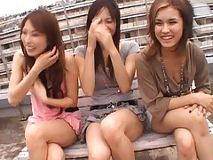 Maria Ozawa Asian and two gals are happy to expose to chaps group