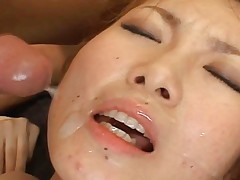 Japanese AV Model gets cum on her face and loves the warmth