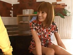 Kirara Asuka Asian with cute dress is horny and kissed by fellow