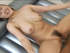 Moka Sexy Asian model is having sex in the bathroom with her boyfriend