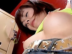 Cute Asian babe gets her pussy fingered under her short skirt by her date