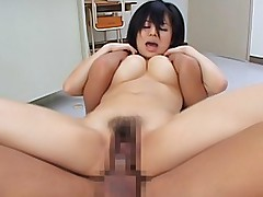 Sora Aoi naughty Japanese tramp spreads her legs and gets her pussy fucked hard
