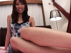 Alice Miyuki Asian takes dress and bra off to reveal juicy tits