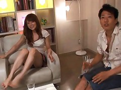 Akiho Yoshizawa Asian is on a date at her boyfriends house