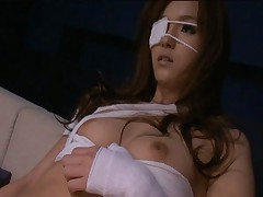 Mei Haruka nipples are very hard as her breasts are fondled