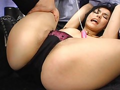 Maria Ozawa Asian has boob violently sucked and pussy teased