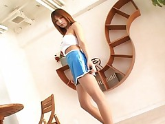Ai Kurosawa Sexy Asian model shows off her new mini skirt for her guys