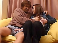 Japanese Av Model is spread wide for a hard fucking when she parties