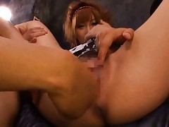 Kirara Asuka Asian is fucked with two fingers and rubbed on clit