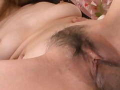 Natsumi Mitsu Gets a hard fucking and shows juicy cunt close up