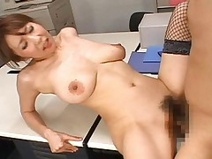 Japanese AV Model gets penetrated by a cock and gets fucked hard