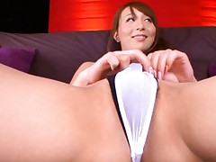 Jessica Kisaki Asian ready to get sperm from two dicks on her ass