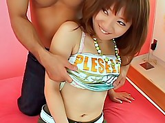 Asian teen model opens her legs for a fucking at a party and she got a pounding