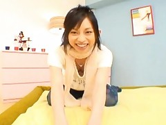 Shoko Mimura curvy ass in a pair of polka dot pantyhose