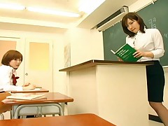 Nao Ayukawa Asian hotties have big tits and get groped in class