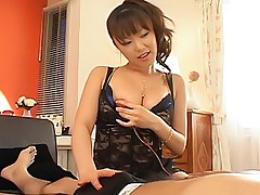 Yua Aida horny Asian tramp gets fucked and masturbates when she is out partying