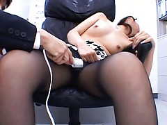 Aya Matsuki has her pussy stimulated at the office by vibrator