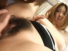 Riana Natsukawa using her tongue after her pussy is fingered