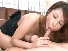 Nami Horny Asian student licks ass and gets a load of cum from boyfriend