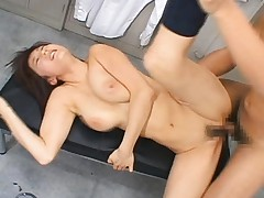 Yuma Asami fucked hard in the school locker room by classmates