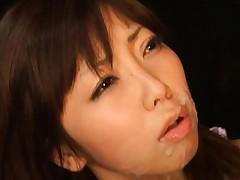 Tsubasa Usagi Asian has face the aim of lots of cum from phallus