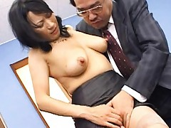 Natsumi Kitahara has nipples roughly sucked and nooky rubbed