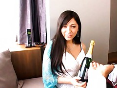 Saori Hara Asian is ready to do nasty things after some champagne