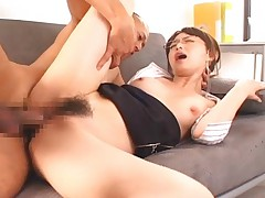 Akiho Yoshizawa yells out loud when she gets fucked so hard that it hurts