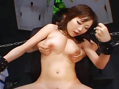 Rio Hamasaki gets her cunt penetrated by a rock hard dick