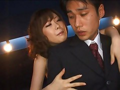 Rio Hamasaki Asian with big cans loves to lick and suck fingers