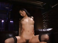 Sora Aoi Asian with erect nipples and fishnet stockings is nailed