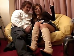 Japanese Av Model Asian babe is horny and attracted to chubby guys to fuck