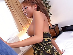 Hot Japanese chick gets her vagina and anus fucked hard in a threesome