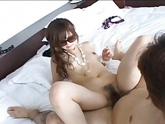 Haruna Ninomiya Hot Asian chick in sunglasses gets a pussy pounding